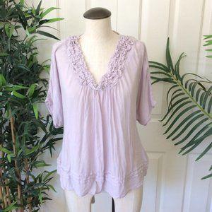 Love Stitch S Lavender Tie Back Blouse